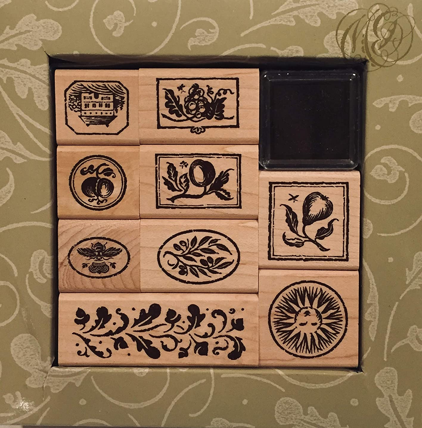 Brenda Walton's Tuscan Garden Rubber Ink Stamp Set Unmounted Kit 9 Designs