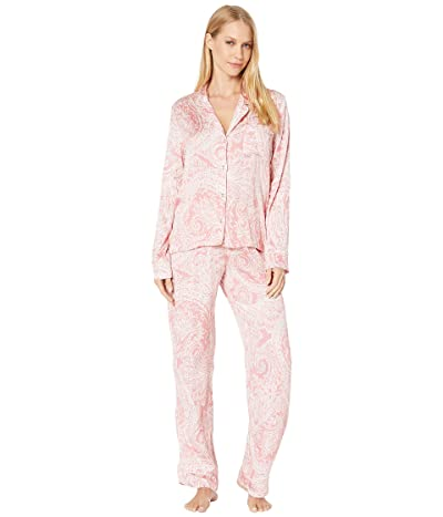 Splendid Notch PJ Set (Pink/White Charmed Paisley) Women