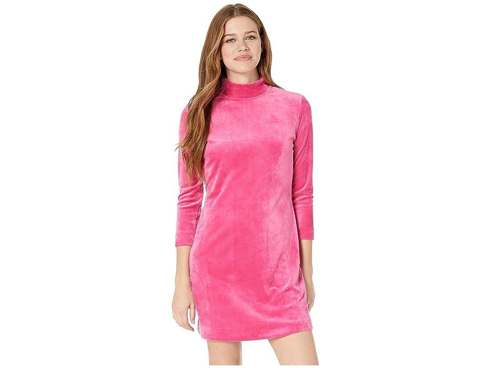 Sanctuary Endless Night Velour Shift Dress (Street Pink) Women
