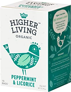 Higher Living Organic Peppermint & Licorice 22g (15 Teabags)