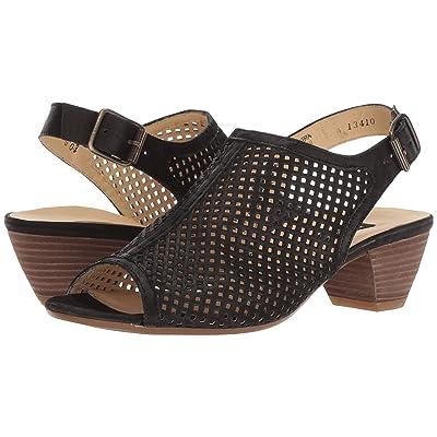 Paul Green Lois Sandal (Black Leather) Women