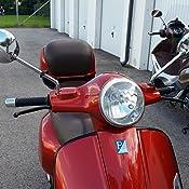 Spiegel Links Rund Schwarz Matt Pulverbeschichtet Stahl Spiegelstange M8 Mit E Prüfzeichen Rechtsgew Rms Für Vespa Lx Lxv S Gts Gts Super Gtv Gt 60 Gt Gt L 50 300ccm Auto