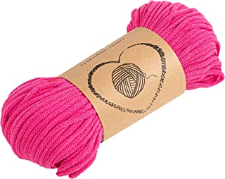 Baumwollkordel Kordel Baumwolle lila makramee garn 5mm - Baumwollgarn baumwollschnur baumwollseil kordelband mit Polyester-Kern 100M farbig