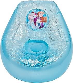 Disney Frozen 289FZO Kids Inflatable Glitter Chill Chair, Blue/White