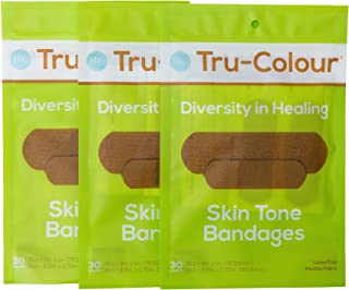 Tru-Colour Skin Tone Bandages: Olive-Moderate Brown 3-Pack (90-Count; Green Bag)