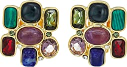 LAUREN Ralph Lauren - Stone Cluster Button Clip Earrings