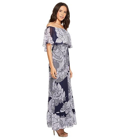 Dress Morgan Maxi Off Printed the Donna Shoulder f0OYO4