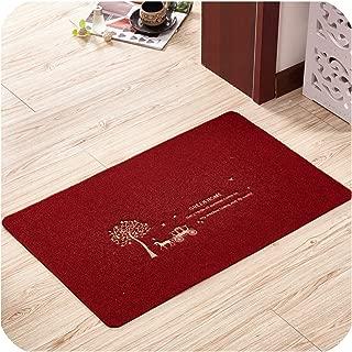 Welcome Doormat Outdoor Carpet Absorbent Bathroom Floor Mats Kitchen Rug Non Slip Bedroom Carpet Foot Mat Living Room Rug,Red Tree,60x90cm