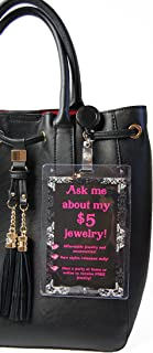 Purse Tag Ask Me About My $5 Jewelry | Join My Team | Double Sided