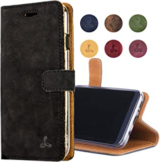 Samsung Galaxy S8 Plus Case, Snakehive Genuine Leather Wallet with Viewing Stand and Card Slots, Flip Cover Gift Boxed and Handmade in Europe by Snakehive for Samsung Galaxy S8 Plus - Black