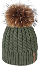 Winter Beanie Hats for Women FURTALK Womens Warm Knit Fur Bobble Pom Pom Hat