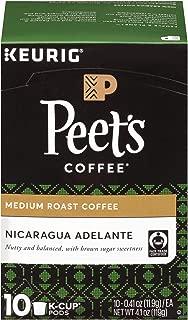 Peet's Coffee Nicaragua Adelante, Medium Roast, 60 Count Single Serve K-Cup Coffee Pods for Keurig Coffee Maker
