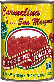 Carmelina San Marzano Italian Chopped Tomatoes in Puree, 14.28 ounce (Pack of 12)