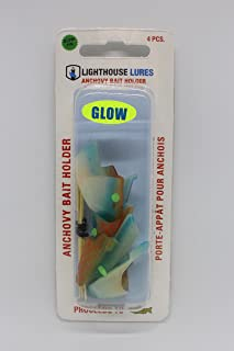 Lighthouse Lures Anchovy Bait Holder 4 Pack for trolling Salmon, Halibut, Lingcod or Rockfish
