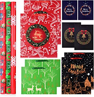 Christmas Wrapping Paper with bags Set