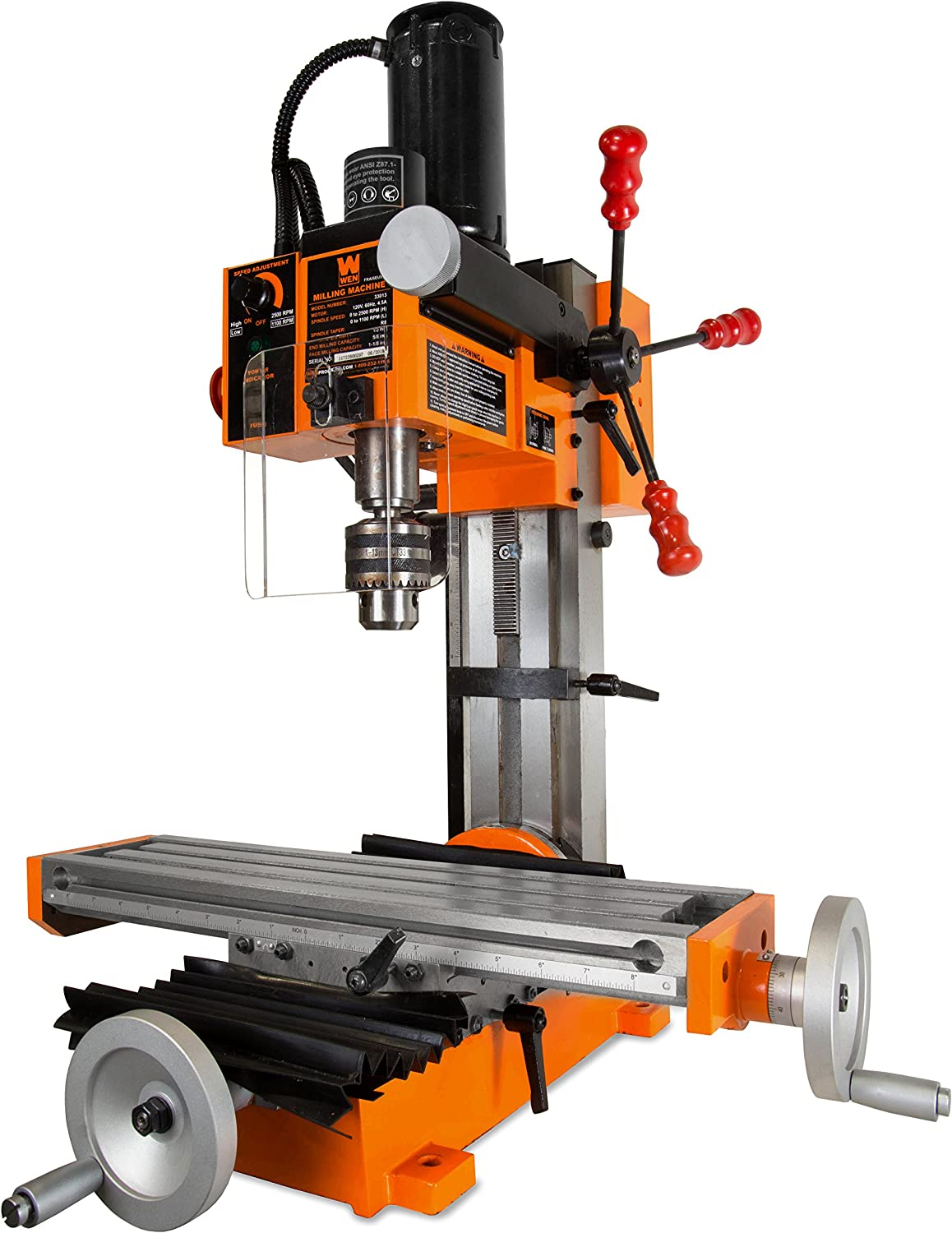 WEN 33013 Compact Benchtop Milling Machine with R8 Taper
