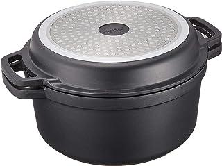 cotta 無水調理鍋 黒 直径:24cm 本体高さ:11.5cm 蓋:3.5cm 91469