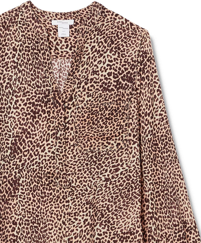 tunic-shirts Mujer Marca Daily Ritual Georgette Henley Tunic