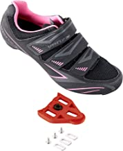 Venzo Bike Bicycle Women's Ladies Cycling Riding Shoes - Compatible with Peloton Shimano SPD & Look ARC Delta - Perfect fo...