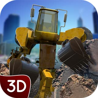 City Excavator Robot Strike 3D: Scientific Experiment Destruction & Survival Game