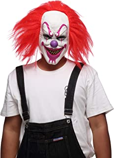 Evil Clown Mask, Halloween Masks for Adults/Mask Latex Horror/Halloween Masks for Men/Halloween Props Scary Red