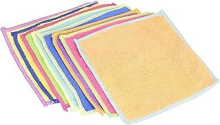 ストリックスデザイン マイクロファイバークロス ミニサイズ 8枚組 カラフル 約14.5×14.5cm ふきん 雑巾 お掃除 吸水 速乾 SB-022
