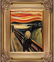 اللوحة الزيتية La Pastiche The Scream من تصميم Edvard Munch ، 20.32 سم × 25.4 سم، إطار برونزي رينيسانس