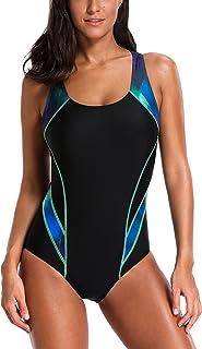 c3adfea8ee214 Charmleaks Damen Einteiler Figuroptimizer Racerback Sport Badeanzug Elegance