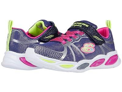 SKECHERS KIDS Sport Lighted Shimmer Beams 302042L (Little Kid/Big Kid) (Navy/Multi) Girl