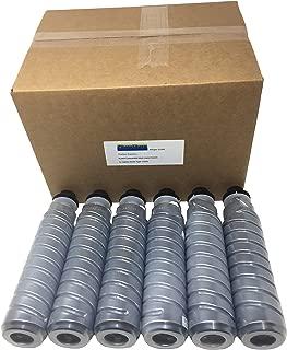 6 Compatible aficio MP1600LMP1600spf MP2000 MP2000L MP2000spf Black Printer Ink Toner Cartridge Copy 888251 for Ricoh AFICIO Type 1130D MP-1600/1600spf/2000/2000L 2000spf Digital Copier Machine