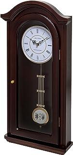Fox and Simpson Burnley Walnut - Reloj de péndulo con Campanas Westminster, Madera, marrón, 31x10x60 cm