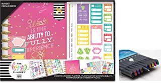 me & My Big Ideas Create 365 The Happy Planner, Budget Wealth Box Kit, 12 Months Undated, Comes with Kemah Craft 10 Pc Fineliner Color Pens (BOX-188)