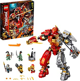 LEGO NINJAGO Fire Stone Mech 71720 building set with 5 minifigures, Toy for Boys and Girls 9+ years old (968 pieces)
