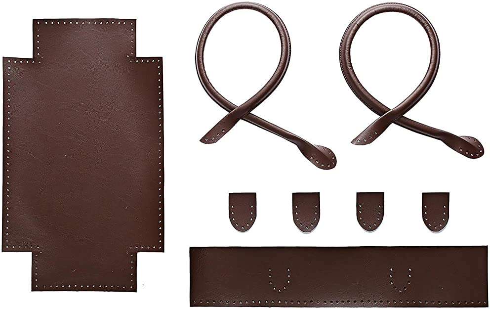 Bergere de France Small Brown Faux Leather Tote Kit