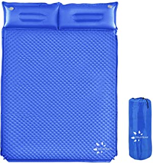FRUITEAM Camping Sleeping Pad Self-Inflating Camping Pad Foam Sleeping Mat with Pillow Camping Mat for Backpacking, Traveling and Hiking