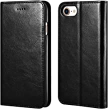 icarercase iPhone 7/8 Wallet Case, Premium PU Leather Folio Flip Cover with Kickstand and Credit Slots for Apple iPhone 7/8 4.7 Inch (Black)