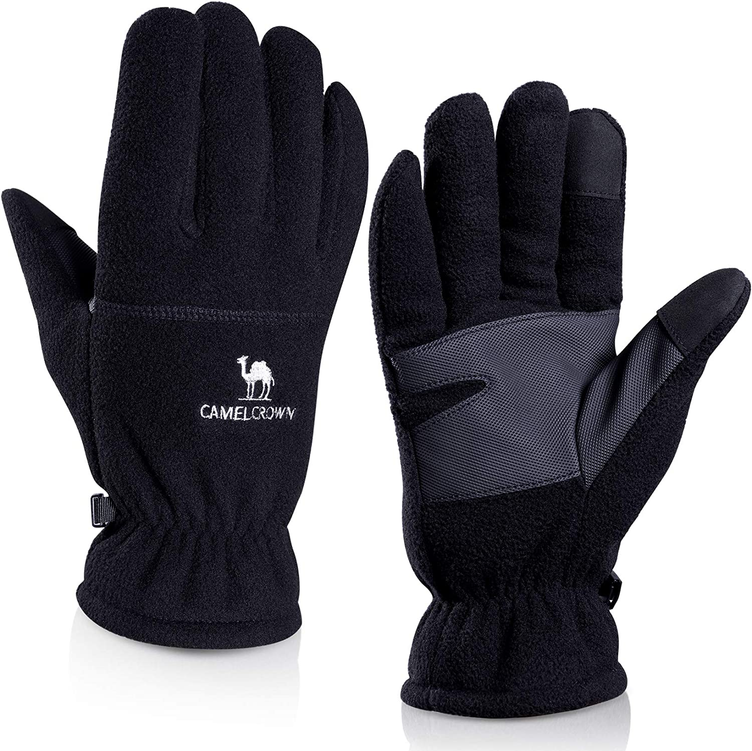 CAMEL CROWN Winter Gloves Polar Fleece Touchscreen Gloves for Outdoor Windproof Coldproof