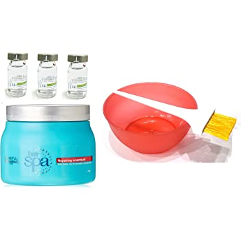 L'Oreal Paris Repairing Mask, Hydrating Ampoules, Mixing Bowl, Dye Brush Hair Spa Set of 6 with Ayur Product in Combo
