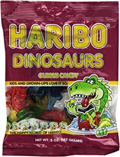 Haribo Dinosaurs Gummi Candy 5 Ounce Bag Case Pack (24 Total Bags)