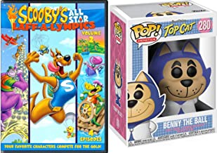 Benny Ball Laugh Olympics Scooby-Doo Cartoon DVD Pack All Star Team Laff-A-Lympics Compete for Gold Sports Feature Episodes Hanna-Barbera Yogi Yahooeys & Really Rottens + Pop Collectible Funko Figure