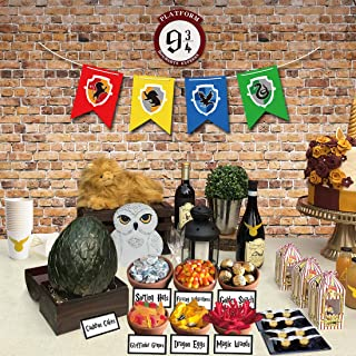 Magical Wizard Party Candy Bar Decoration Kit, Sign, Banner, Stickers and Candy Labels for HP Themed Birthday Baby Shower ...