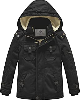 Boy's and Girl's Cotton Heavy Twill Hooded Jacket
