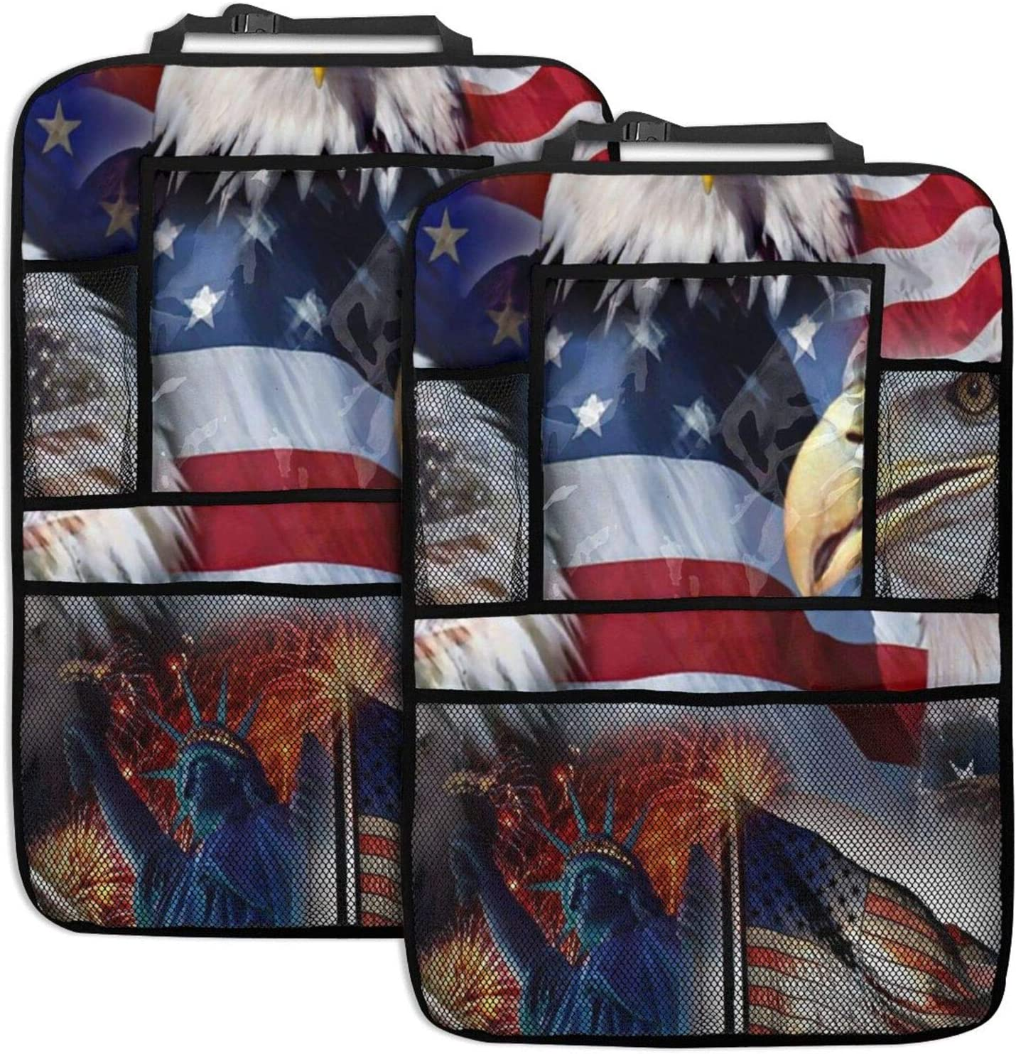 NELife Backseat Organizer 2 Pack - Oklahoma City Mall Flag Eagles Spasm price American Seat Car