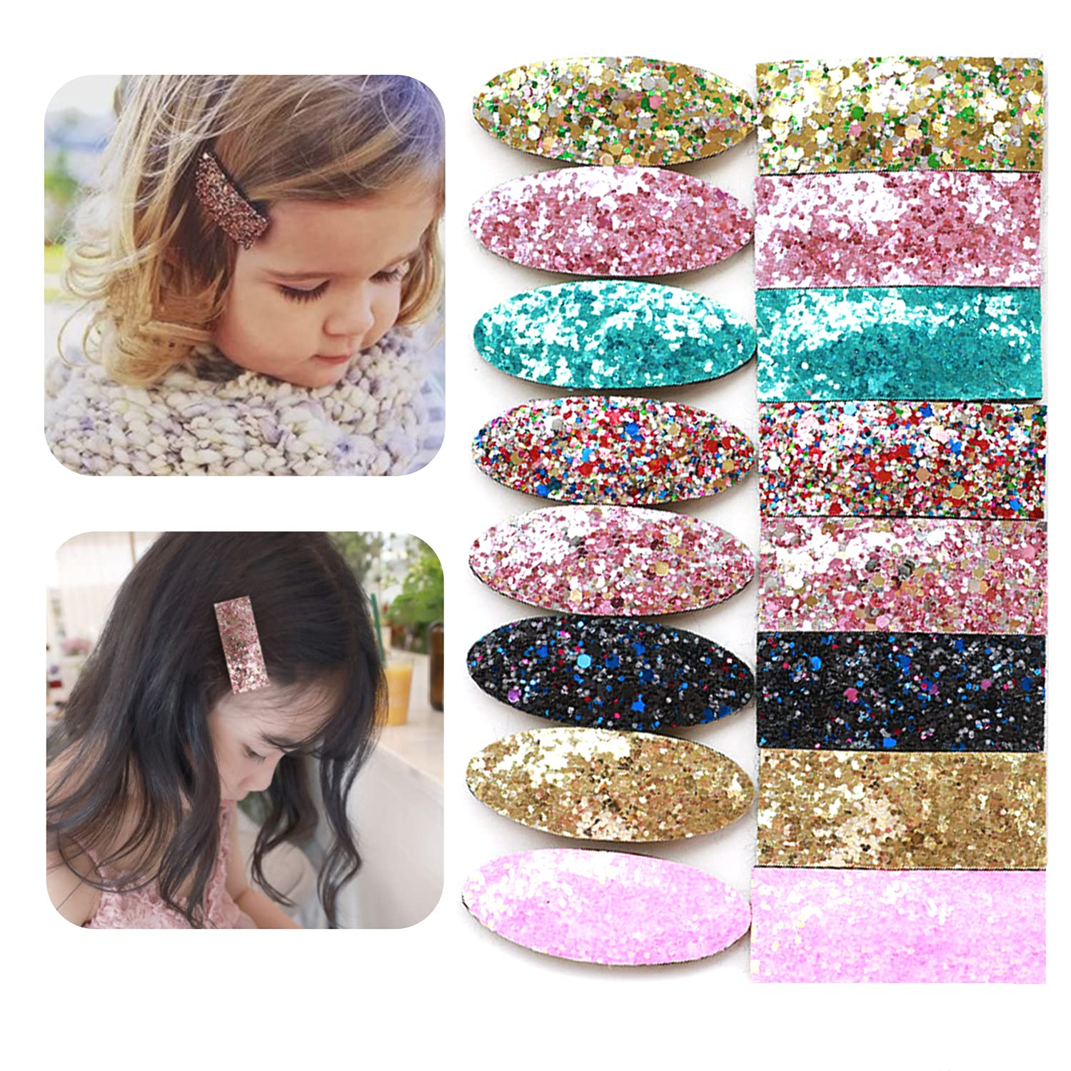 EleMirsa 16pcs Girl Hair Clips for Baby Girls Infants Toddlers 2