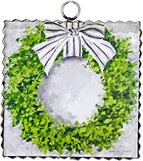 The Round Top Collection Gallery Boxwood Wreath Mini- Metal/Wood