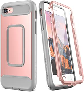 YOUMAKER Case for iPhone 8 & iPhone 7, Rose Gold Full Body with Built-in Screen Protector Heavy Duty Protection Shockproof Slim Fit Cover for Apple iPhone 8 (2017) / iPhone 7 (2016) 4.7 Inch - RG/Grey