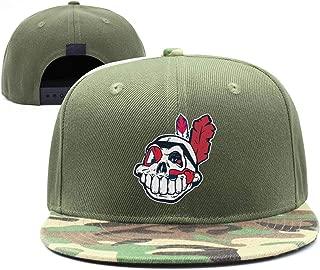 Cleveland_Skull_Indians_Baseball Snapback Ball Cap Professional All Cotton Caps Printed Women Men Hats
