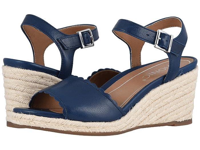 Vintage Sandals | Wedges, Espadrilles – 30s, 40s, 50s, 60s, 70s VIONIC Stephany Twilight Womens Shoes $104.99 AT vintagedancer.com