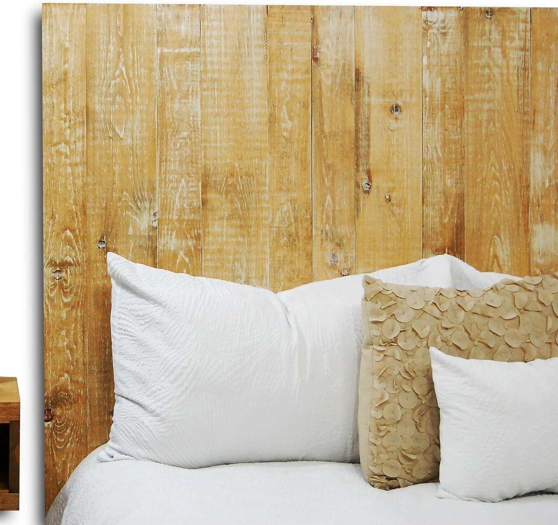 Boho Whitewash Headboard Twin Size, Hanger Style, Handcrafted. Mounts on  Wall. Easy Installation.