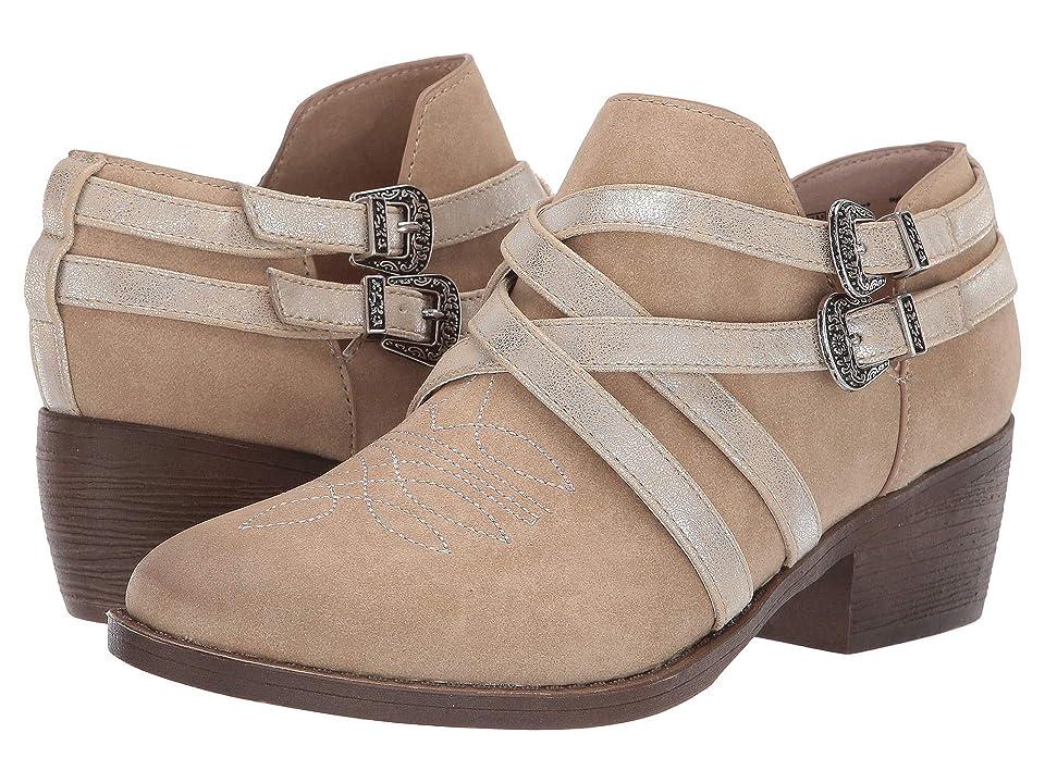 Ariat Unbridled Sadie (Light Tan Suede/Silver Distressed Metallic) Cowboy Boots